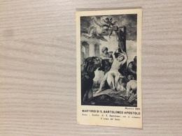 Santino Martirio Di S. Bartolomeo Apostolo In Roma Basilica Di S. Bartolomeo - Santini