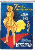 PUBLICITE   AFFICHES  SUR   CARTE  7ANS DE REFLEXION MARILYN  MONROE  CPM  TBE PU13 - Publicité