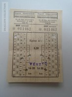 D162677  Railway Ticket  Hungary  Vésztő - Bélmegyer 1958-60 -train - Transportation Tickets