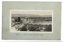 CPA - Carte Postale -Suisse-Genève - Pont Et Quai Du Mont Blanc-1910 - S5015 - GE Genève