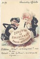 Cpa Signée Roberty – Incubation Officielle – Scrutin De  Ballottage ..( Caricature Politique, Fallières , Briand) - Autres Illustrateurs