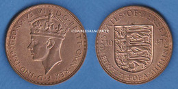 JERSEY 1947  GEORGE VI  1/12 SHILLING BRONZE  VERY FINE/SUPERB CONDITION PLEASE SEE SCAN - Jersey