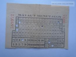 D162678  MÁVAUT   Autobus Bus  Ticket  Hungary    1958-60 - Transportation Tickets