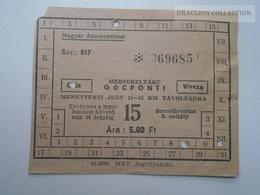 D162679  MÁV Railway  Ticket  Hungary   Vésztő  Bélmegyer  1958-60 - Transportation Tickets