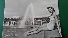 CPSM PIN UP UN SOURIRE DE GENEVE 1958 - Pin-Ups