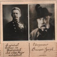 EMPEREUR FRANCOIS JOSEPH GENERAL CHEF ETAT MAJOR ARMEE AUTRICHE HONGRIE PHOTO PRESSE FICHE ???? VERS 1910 ?? - Célébrités