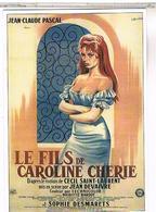 PUBLICITE AFFICHES  SUR CARTE  LE FILS  DE CAROLINE  CHERIE  BRIGITTE BARDOT CPM  TBE PU15 - Publicité