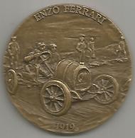 Ferrari Enzo, Maranello Corse 1998, Medaglia Esordio Nella Parma Berceto 1919. Bronzo Mm. 50. - Italia