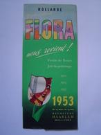 DEPLIANT TOURISME à Système : FLORA - FETE DES FLEURS / HAARLEM / HOLLANDE 1953 - Dépliants Touristiques