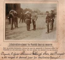 ATTACHE MILITAIRE ALLEMAND VON WINTERFELD BLESSE EN FRANCE PHOTO PRESSE FICHE ???? VERS 1910 ?? - Célébrités