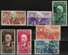 COLONIE ITALIANE ETIOPIA 1936 Serie Completa Usata - Ethiopie