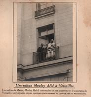 EX SULTAN DU MAROC MOULAY HAFID A VERSAILLES PHOTO PRESSE FICHE ???? VERS 1910 ?? - Célébrités