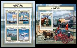 Sierra Leone 2016, Royal Mail, Klb + S/s MNH - Post