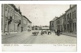 CPA - Carte Postale -Pays-Bas - Bergen Op Zoom- Stationstraat-1909  - S5018 - Bergen Op Zoom