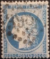 FRANCE Y&T N°60C Cérès 25c Bleu. Oblitéré Losange GC. N°3982 - 1871-1875 Cérès