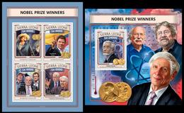Sierra Leone 2016, Nobel Prize Laureates, Klb + S/s MNH - Prix Nobel
