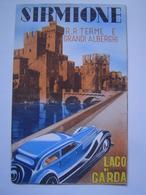 DEPLIANT TOURISME Ancien : PUBLICITE / ALBERGO SIRMIONE / LAGO DI GARDA / ITALIE 1939 - Dépliants Touristiques
