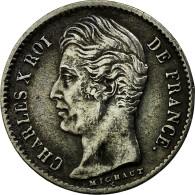 Monnaie, France, Charles X, 1/4 Franc, 1830, Lille, TTB, Argent, Gadoury:353 - France