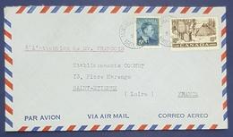 1951 Cover, Montréal Canada - Saint Etienne France, Air Mail - Brieven En Documenten