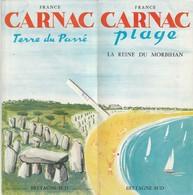 Carnac---morbihan---56---depliant 4 Volets - Vieux Papiers