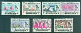 MALAYSIA - 1965, Pahang, Orchids PH 76/82 Serie Cpl. 7v. Nuovi** Perfetti - Malesia (1964-...)