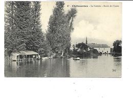 """36-CHATEAUROUX-Une Vue Du  'CALICHE""""Le Lavoir Sur Le Bord De L'Indre-Pecheur En Barque - Chateauroux"""