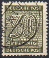 SBZ - West-Sachsen 1945  MiNr. 135 X   O/ Used; Ziffer - Sowjetische Zone (SBZ)