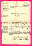 MANUSCRIT MILITAIRE - CERTIFICAT D ORIGINE DE BLESSURE -SECTEUR POSTAL 198  266 REGIMENT D'ARTILLERIE 42° SECTION - 1914-18