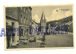 """Bohan-s/Semois. La Grand'Place. Eglise, Hôtel """"Beau Site"""". 1955. Terrasse.Phototypie A. Dohmen - Vresse-sur-Semois"""