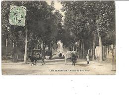 36-CHATEAUROUX-Une Vue Animée D'Attelages Avenue Du POnt-Neuf - Chateauroux
