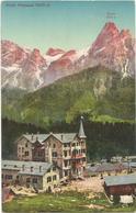 W594 San Martino Di Castrozza (Trento) - Hotel Fratazza - Panorama Col Monte Rosetta / Non Viaggiata - Italia