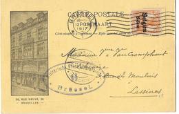 OC 13 -  Librairie Classique Lebègue Bruxelles 1917 - Lessines - Cachet De Censure - Guerre 14-18