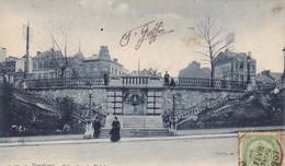 BELGIQUE. VERVIERS.  CPA. L'ESCALIER DU THÉÂTRE. ANNEE 1907 - Verviers