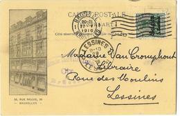 OC 12 -  Librairie Classique Lebègue Bruxelles 1916 - Office De Publicité - Lessines - Cachet De Censure - Guerre 14-18