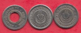 Algérie 3 Jetons  (Reig---Alger ) # Troué-Triangle- Et Avec Un Point Dans L 'état - Monétaires / De Nécessité
