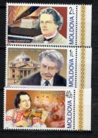 MOLDAVIE MOLDOVA 1998, Musique Et Théâtre, 3 Valeurs, Neufs / Mint. R1616 - Moldavie
