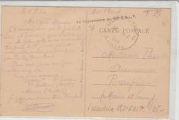 """CANTAL : """" LE VAGUEMESTRE DU 182° RALT """" Griffe Locale De Maurs De 1940 Pour Beaupréau TB - Marcophilie (Lettres)"""