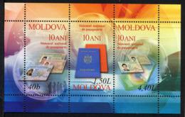 MOLDAVIE MOLDOVA 2005, Pièces D'identité Moldaves, 1 Bloc, Neuf / Mint. R1626 - Moldavie