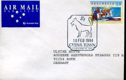 41580,  Australia, Special Postmark 1994  Dog  Chien, Hund   China Town - Chiens