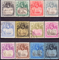 1924-27 ASCENSION SG #10-20 Compl.set Used CV £600 - Ascension (Ile De L')