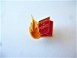 PINS PERMIS À POINTS  / Signé ATLANTI'S / 33NAT - Badges