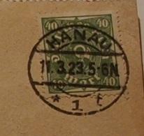 """Deutsches Reich 40 M Posthorn Auf Karte 1923 - Zentrisch """"Hanau"""" O - Germany"""