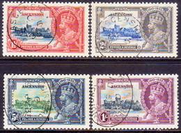 1935 ASCENSION SG #31-34 Compl.set Used CV £110 Silver Jubilee - Ascension (Ile De L')