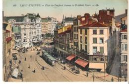 SAINT ETIENNE    Place Du Peuple Et Avenue Du Président Faure - Saint Etienne
