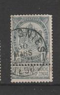 COB 53 Oblitéré SOIGNIES - 1893-1907 Wappen