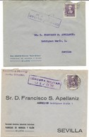España. Dos Cartas Circuladas Desde Gijón A Sevilla - 1931-50 Cartas