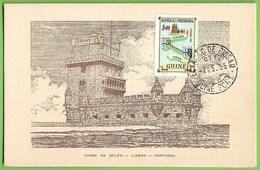 Lisboa - Torre De Belém - Postal Máximo - Filatelia - Maximum Card - Guiné - Lisboa