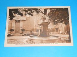 """13 ) Saint-paul-les-durance - La Fontaine Et La Place  """""""""""" Retaurant : Hotel  MAUREL """""""" - Année 1952 - EDIT : Tardy - France"""