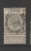 COB 53 Oblitéré BRUXELLES (NORD) 1 - 1893-1907 Wappen