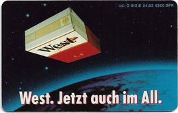 Germany - West Cigarettes - O 0818B - 04.93, 12DM, 6.200ex, Used - Allemagne